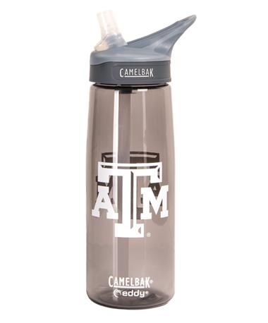 Texas A&M Camelbak Eddy Water Bottle Charcoal