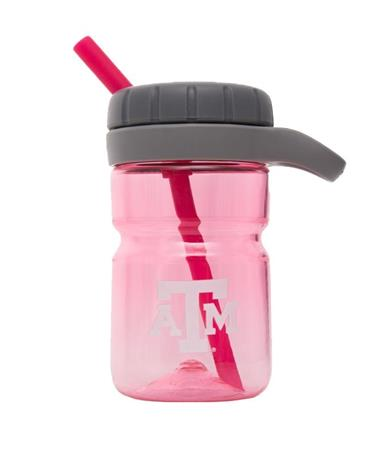 Texas A&M Kids Twist Top Water Bottle - Pink Pink