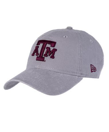 Texas A&M New Era Grey Core Classic Hat Front Grey