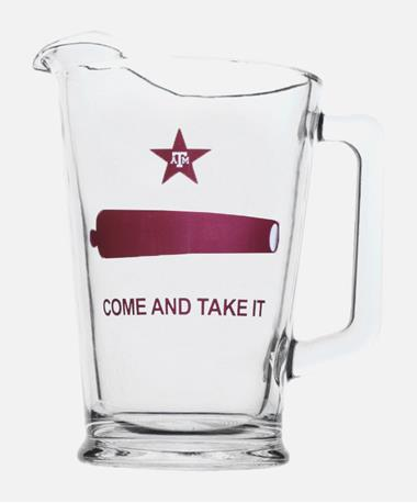 Texas A&M Come And Take It Glass Pitcher Clear