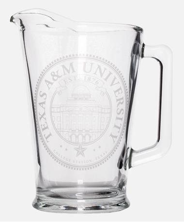 Texas A&M Etched Academic Seal Pitcher Etched