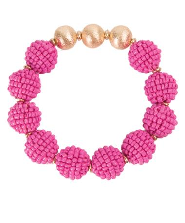 Seed Bead Ball Stretch Bracelet
