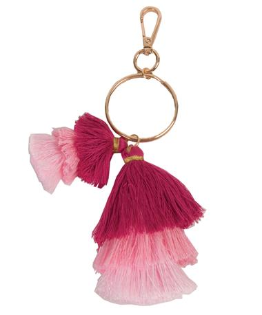 Ombre Tassel Keychain Pink Pink