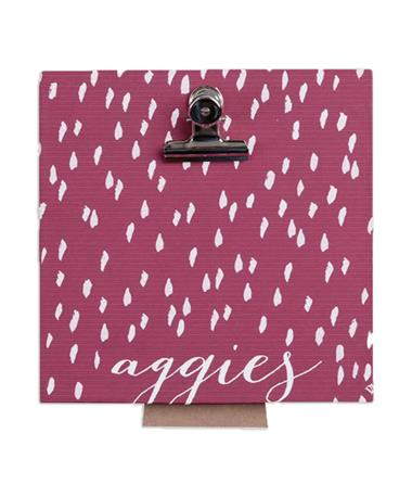 Texas A&M Aggies Clip Picture Frame - Front Maroon