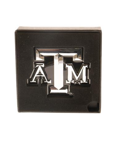 Texas A&M Aggie Auto Emblem Chrome
