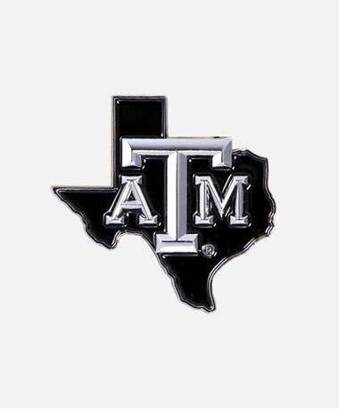 Texas A&M Lone Star Auto Chrome Emblem Chrome