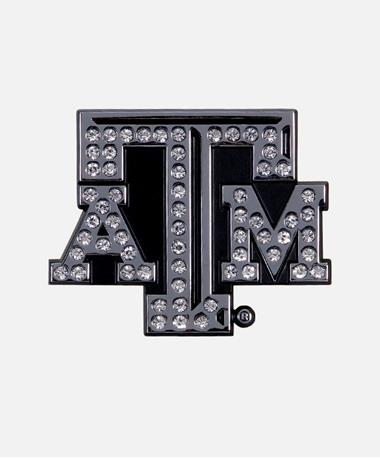 Texas A&M Rhinestone Bling Auto Emblem Chrome