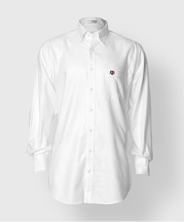 Texas A&M Peter Millar Nanoluxe Oxford Button Down - White - Front White