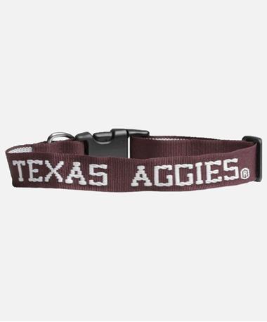 Texas A&M Aggies Dog Collar Maroon