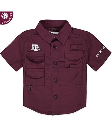Texas A&M Aggie Fishing Shirt - Front Maroon