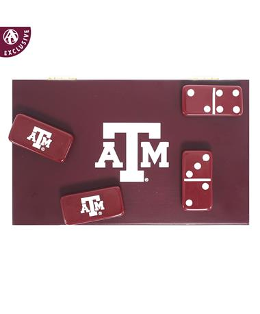 Texas A&M Exclusive Maroon Domino Set - Top - Dominoes Maroon