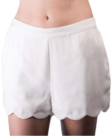 Sol Woven Shorts White