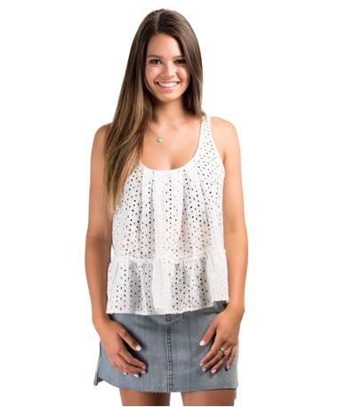 Calix Woven Top Ivory