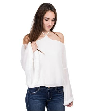 Missy Woven Top - Front White