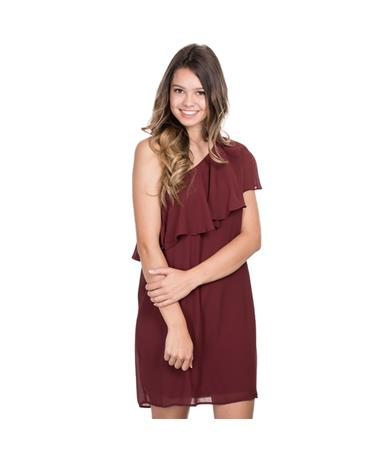 Maroon Sawyer Woven Dress - Front Maroon