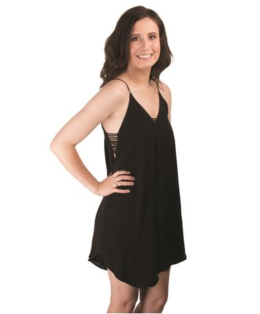 Julie Woven Dress Angle Black