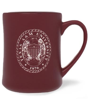 Texas A&M Ring Crest Matte Mug Maroon