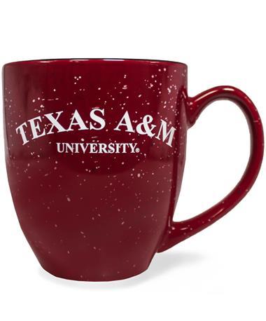 Texas A&M Aggie Maroon Speckled Bistro Mug
