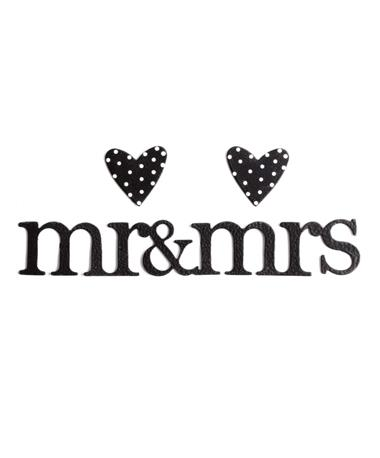 Mr & Mrs Heart Magnets Metal