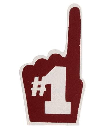 #1 Fan Finger Magnet Maroon