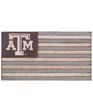 Texas A&M Aggie Medium Wooden Flag - Front N/A