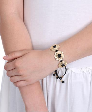 Concho Bracelet Black