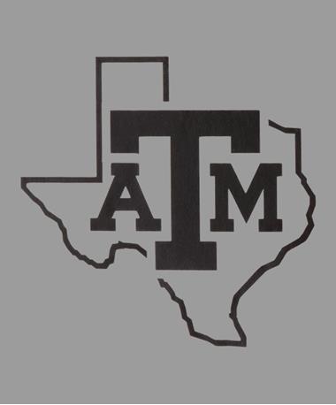 Texas A&M Black Reflective Lone Star Decal Black