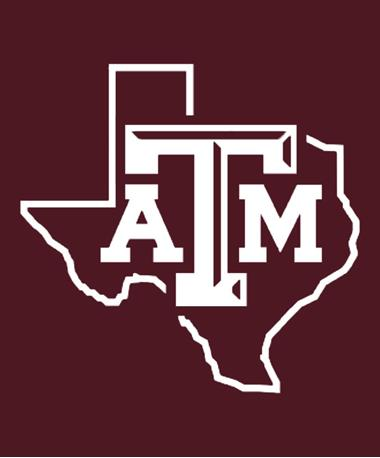 Texas A&M Aggie Lone Star Drinkware Decal White