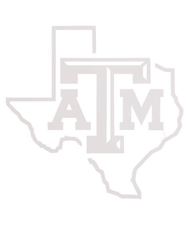 Texas A&M Aggie Bevel Lone Star Decal White