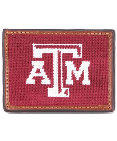 Texas A&M Smathers & Branson Card Wallet - Front Maroon