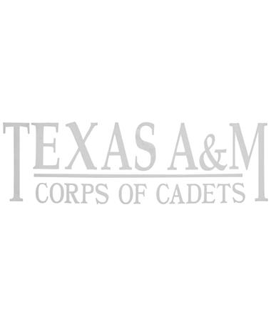 Texas A&M Corps Of Cadets Decal White