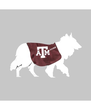 Texas A&M Reveille Silhouette Car Decal
