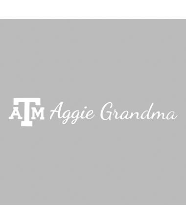 Texas A&M Aggie Grandma Script Decal