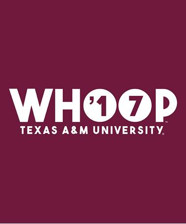Texas A&M Aggie Whoop `17 Decal White
