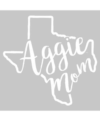 Texas A&M Aggie Mom Curly Print Decal