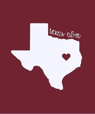 Texas A&M Simply Love Decal
