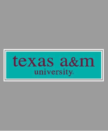 Texas A&M Aggie Grape Decal Mint