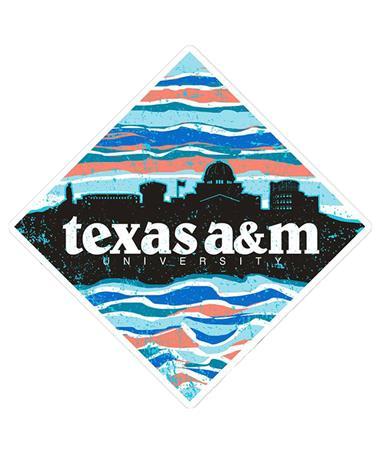 Texas A&M Skyline Diamond Sticker Multi