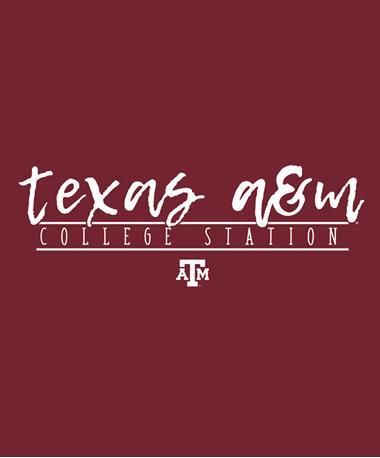 Texas A&M Aggie Script Font Decal White
