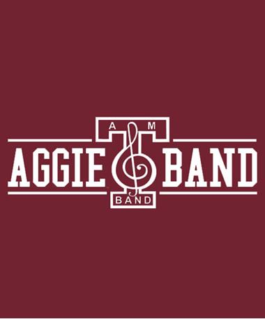 Texas A&M Aggie Band Basic Decal White