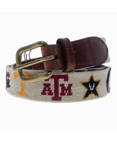 Texas A&M SEC Smathers & Branson Belt - Rolled Up Khaki