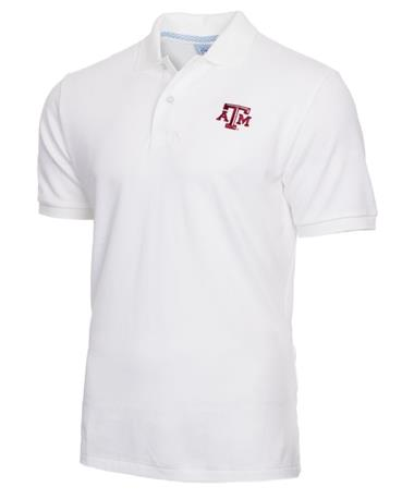 Southern Tide Texas A&M Gameday Polo Front Classic White