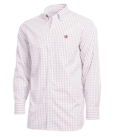 Southern Tide Texas A&M Gameday Tattersall Button Down Shirt Front Chianti
