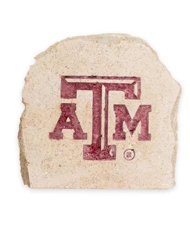 Texas A&M 7 X 7 Engraved Decorative Stone - Front Stone