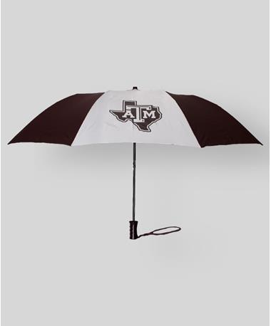Two Color Umbrella Maroon White