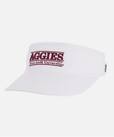 Texas A&M Aggies Bar Pro Visor Front White