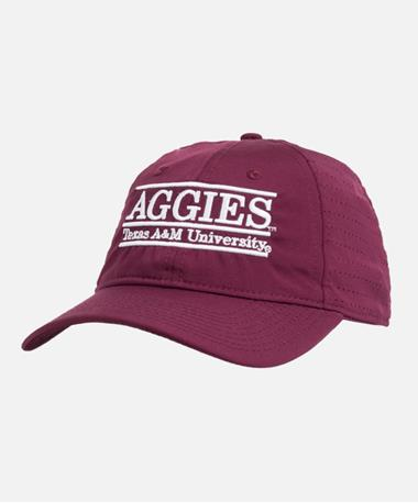 Texas A&M Bar Performance Adjustable Cap Front Maroon