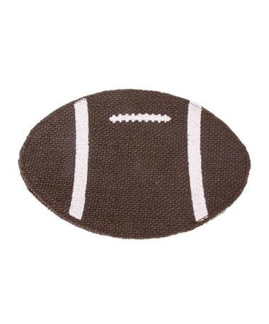 Football Jute Coaster Set of 4 Brown