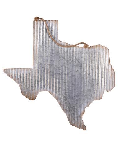 Silver Galvanized Texas Decor Silver