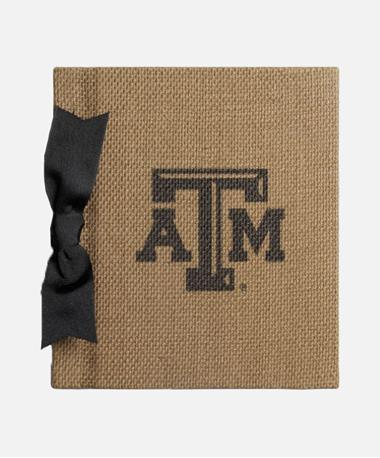 Texas A&M Aggie Bow Burlap Photo Album Burlap